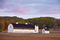 Sleeping Bear Dunes National Lakeshore, Michigan: Historic dairy barn on the  D. H. Day Farm at dawn near Glen Haven