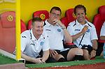 St Johnstone v Eskisehirspor....18.07.12  Uefa Cup Qualifyer.Steve Lomas all smiles.Picture by Graeme Hart..Copyright Perthshire Picture Agency.Tel: 01738 623350  Mobile: 07990 594431