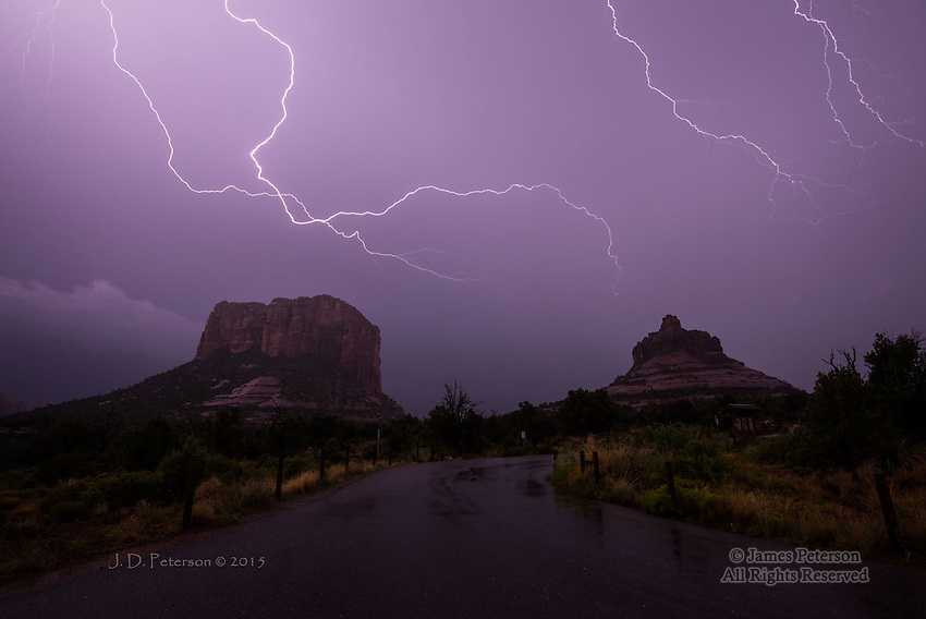 Monsoon Lightning over Courthouse Vista