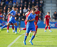 20191023 - Genk: Genk's Luca Oyen is pictured during the UEFA Youth League group stages match between KRC Genk Youth and Liverpool FC on October 23, 2019 at KRC Genk Stadium Arena B, Genk, Belgium. PHOTO:  SPORTPIX.BE   SEVIL OKTEM