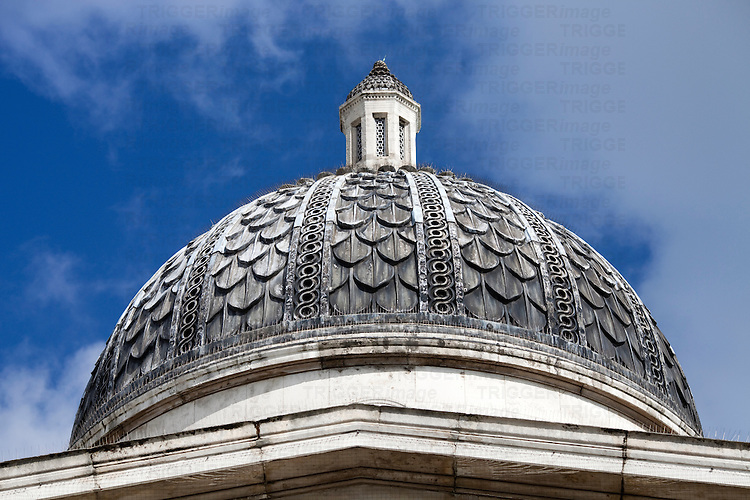 National Gallery dome, London, England, United Kingdom