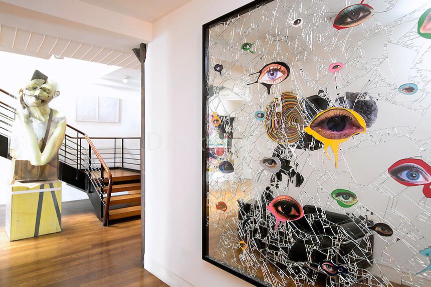 modern mirror artwork