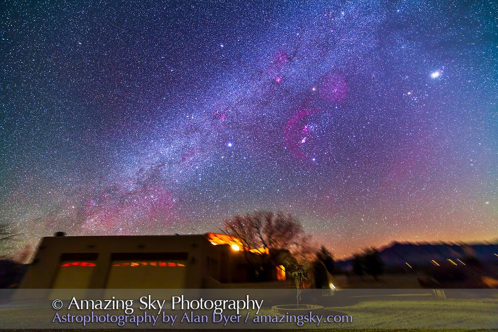 Winter Milky Way over Adobe House (14mm 5DII)   Amazing Sky