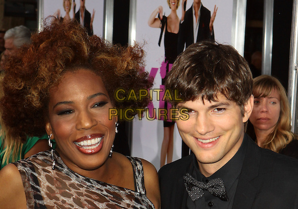 "MACY GRAY & ASHTON KUTCHER .""Killers"" Los Angeles Premiere - Arrivals  held at The Cinerama Dome, Hollywood, California, USA..June 1st, 2010 .headshot portrait black grey leopard print bow tie grey gray .CAP/ADM/TC.©T. Conrad/AdMedia/Capital Pictures."