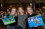 VOGELENZANG - Monique Plasman (Volvo) met Ireen vd Assem en Lauren Stam,  die 50 interlands speelden, . Spelerslunch KNHB 2019.   COPYRIGHT KOEN SUYK