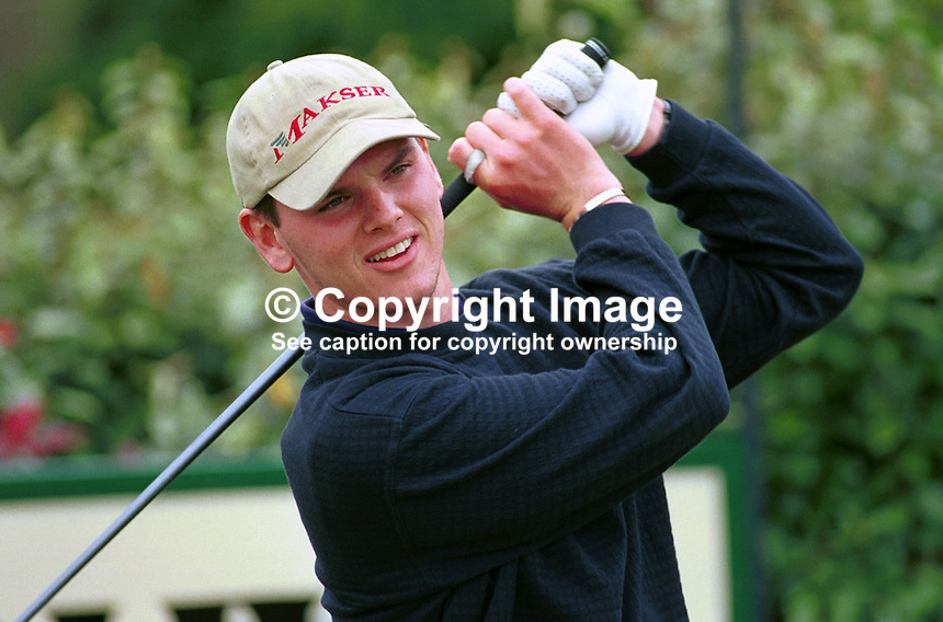 Johnny Foster, Amateur Golfer, Ballyclare Club, N Ireland, UK, Ref: 199907151..Copyright Image from Victor Patterson, 54 Dorchester Park, Belfast, UK, BT9 6RJ..Tel: +44 28 9066 1296.Mob: +44 7802 353836.Voicemail +44 20 8816 7153.Skype: victorpattersonbelfast.Email: victorpatterson@mac.com.Email: victorpatterson@ireland.com (back-up)..IMPORTANT: If you wish to use this image or any other of my images please go to www.victorpatterson.com and click on the Terms & Conditions. Then contact me by email or phone with the reference number(s) of the image(s) concerned.