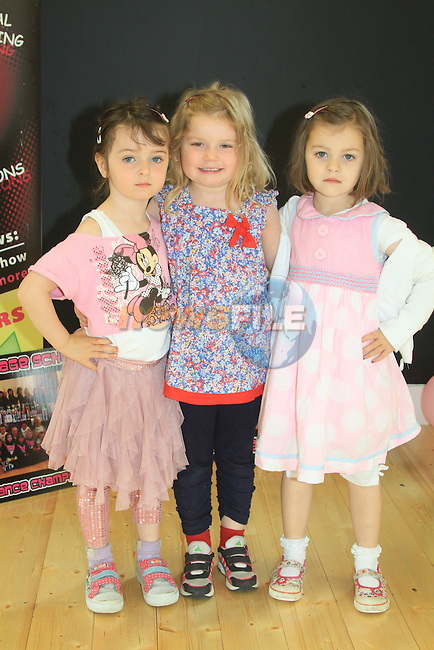Jasmin Kennedy Elen Moore and Hanna Murphy Mary Simpson Stage School.Picture Fran Caffrey www.newsfile.ie