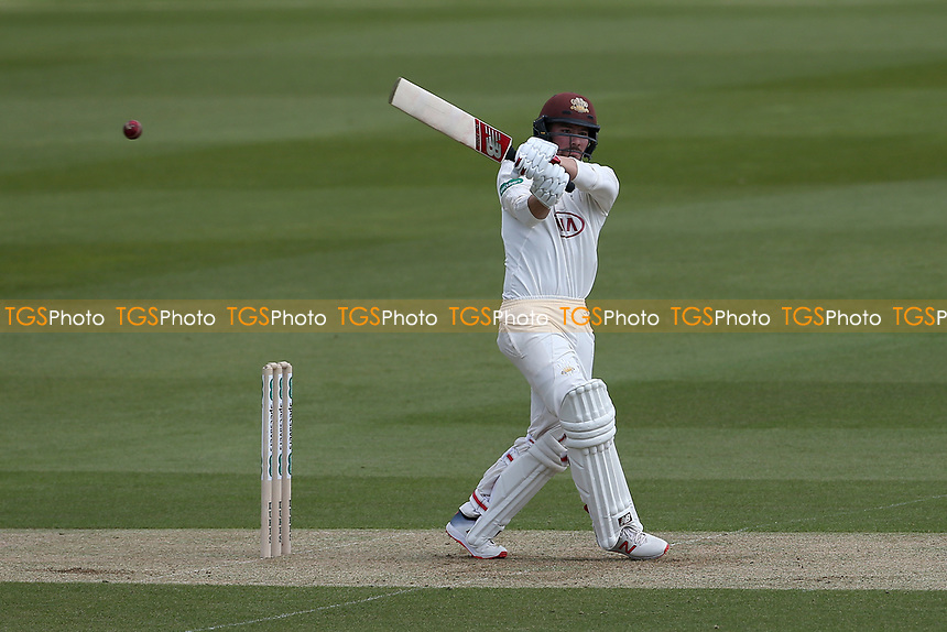 Rory Burns hits out for Surrey during Surrey CCC vs Essex CCC, Specsavers County Championship Division 1 Cricket at the Kia Oval on 11th April 2019