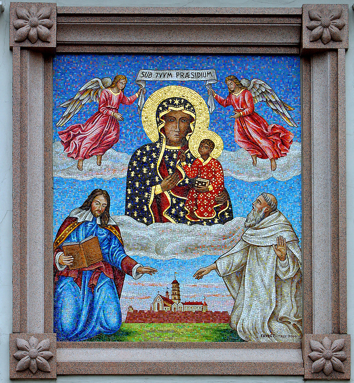Mosaic of Virgin of Jasna Góra, Czestochowa, Poland
