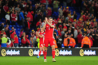 Gareth Bale of Wales applauds the fans at the final whistle during the UEFA Euro 2020 Qualifier match between Wales and Azerbaijan at the Cardiff City Stadium in Cardiff, Wales, UK. Friday 06, September 2019