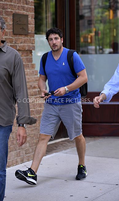 WWW.ACEPIXS.COM<br /> <br /> <br /> July 10, 2013, New York City, NY.<br /> <br /> Jason Biggs out for a stroll on July 10, 2013 in New York City.<br /> <br /> <br /> <br /> <br /> By Line: Curtis Means/ACE Pictures<br /> <br /> ACE Pictures, Inc<br /> Tel: 646 769 0430<br /> Email: info@acepixs.com