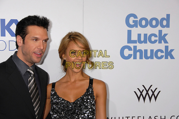 "DANE COOK & JESSICA ALBA.""Good Luck Chuck"" Los Angeles Premiere at Mann's National Theater, Westwood, California, USA..September 19th, 2007.half length stubble facial hair mouth open.CAP/ADM/BP.©Byron Purvis/AdMedia/Capital Pictures."