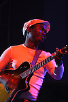 "DURBAN - FILE PIC - 10 April 2006 - Julio ""Gugs"" Sigauque, accoustic guitarist of the popular South African band FreshlyGround seen here performing as a support act to Robbie Williams..Picture: Giordano Stolley"