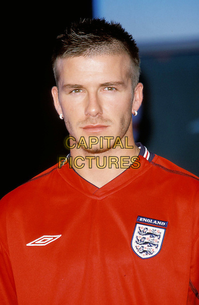 DAVID BECKHAM.Umbro launches new England Away Kit .Ref: 11453.www.capitalpictures.com.sales@capitalpictures.com.© Capital Pictures