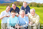 Pictured at the presentation of prizes from the four and six week competitions in the Castlerosse Golf course on Sunday were Stephen Devane, 1st in six week competition, Mick Clifford, 2nd in six week competition, James Lucey, 1st in four week competition, Niall O'Riordan, 2nd in 4 week competition, Malcolm O'Brien, 3rd in six week competition and Pat Doyle, competition secretary.......