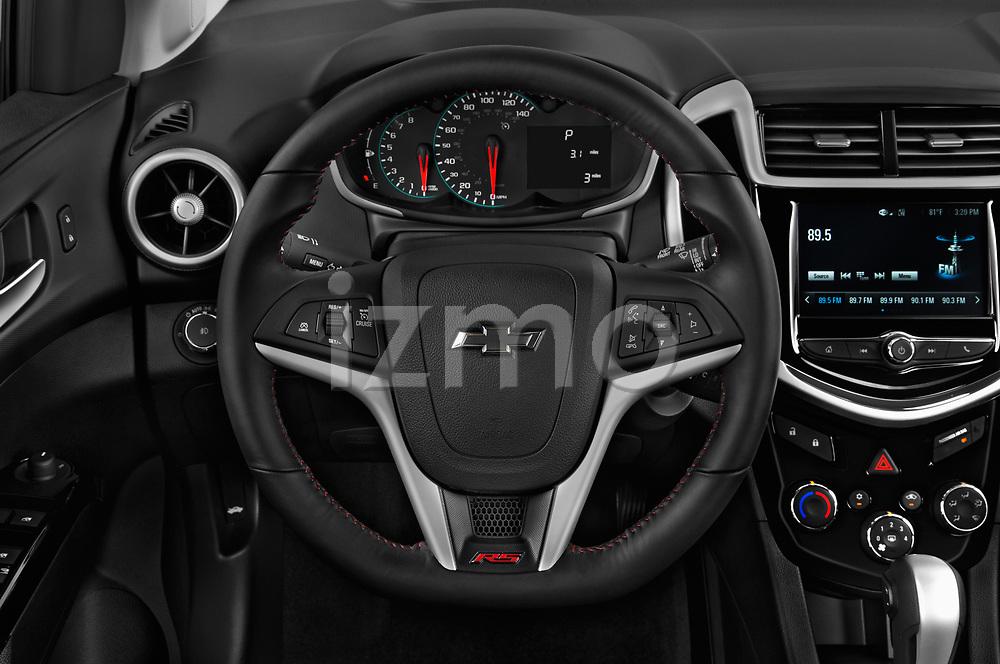 Car pictures of steering wheel view of a 2019 Chevrolet Sonic LT RS Select Doors Door Hatchback