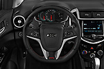 Car pictures of steering wheel view of a 2019 Chevrolet Sonic LT RS Select Doors Door Hatchback