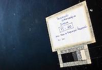 Sao Jose dos Campos_SP, Brasil.. .Detalhe do processo de restauracao da residencia de Olivio Gomes, projetada por Rino Levi...The process of restoration in the residence of Olivio Gomes, designed by Rino Levi...Foto: BRUNO MAGALHAES / NITRO