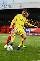 Ched Evans of Fleetwood Town and Tom Dallison of Crawley Town during Crawley Town vs Fleetwood Town, Emirates FA Cup Football at Broadfield Stadium on 1st December 2019