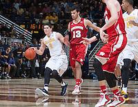 Berkeley, CA - December 22, 2014: California Golden Bears'  56-68 loss to Wisconsin Badgers during NCAA Men's Basketball game at Haas Pavilion.