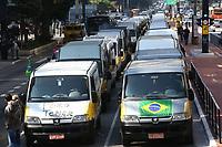 28.05.2018 - Protesto de Vans Escolares na Avenida Paulista em SP