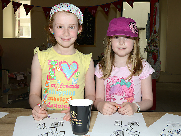 Aisling Brazil and Tara Fox pictured at the Old Schoolhouse market. Photo:Colin Bell/pressphotos.ie