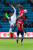 June 10th 2017, Ullevaal Stadion, Oslo, Norway; World Cup 2018 Qualifying football, Norway versus Czech Republic;  Thoedor Gebre Selassie of Czech Republic and Sander Berge of Norway challenge for a header during the FIFA World Cup qualifying match.