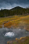 Geothermal hot spring near Madison, Yellowstone National Park, Wyoming
