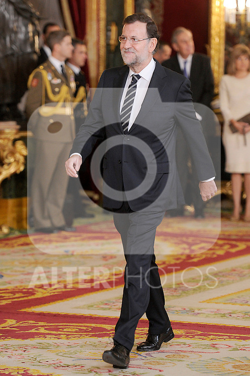 President of Government of Spain Mariano Rajoy during the Spain's National Day Royal Reception at Royal Palace on October 12, 2014 in Madrid, Spain. October 12 ,2014. (ALTERPHOTOS/Pool)