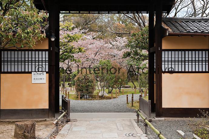 The entrance gate to the Shosei-en garden, Kyoto