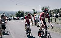 Marcel Sieberg (DEU/Lotto-Soudal) up the Montée de Naves d'Aubrac (Cat1/1058m/8.9km/6.4%)<br /> <br /> 104th Tour de France 2017<br /> Stage 15 - Laissac-Sévérac l'Église › Le Puy-en-Velay (189km)