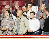 1949, 2001, 2008 and 2010 national champions: ?, Matt Lombardi, Mike Feeley, Tony Voce, Chris Malloy, Tim Kelleher, Justin Dziama - The Boston College Eagles defeated the visiting Northeastern University Huskies 3-0 after a banner-raising ceremony for BC's 2012 national championship on Saturday, October 20, 2012, at Kelley Rink in Conte Forum in Chestnut Hill, Massachusetts.
