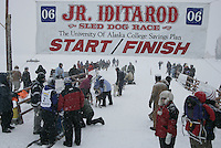 Jr. Iditarod Willow Lake  start / finish  Charlotte Matheis