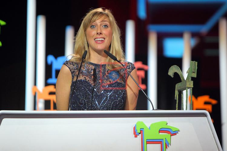 63 Premios Ondas.<br /> Gala de Entrega de los premios.<br /> Cecilia Freire.