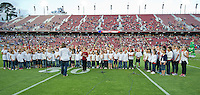 STANFORD, CA - April 14, 2012: Addison Choir singing the National Anthem before the Stanford Cardinal vs San Jose St. game at Stanford Stadium at Sanford, CA. Final score Stanford 20, San Jose St. 17.