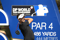 Mike Lorenzo-Vera (FRA) on the 16th tee during the final round of the DP World Tour Championship, Jumeirah Golf Estates, Dubai, United Arab Emirates. 18/11/2018<br /> Picture: Golffile | Fran Caffrey<br /> <br /> <br /> All photo usage must carry mandatory copyright credit (© Golffile | Fran Caffrey)