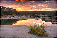 I spent some time with God this morning, and this sunrise over the Pedernales Falls and the Texas Hill Country was his casual reply. I didn't know the sky would light up quite like this, but I was pleasantly surprised with the colorful skies in this sunrise image. And I left here at peace with the world (at least for a little while!)
