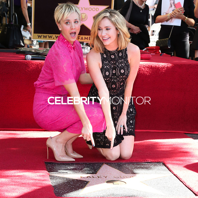HOLLYWOOD, LOS ANGELES, CA, USA - OCTOBER 29: Kaley Cuoco, Ashley Jones at the ceremony honoring Kaley Cuoco with a star in the Hollywood Walk Of Fame on October 29, 2014 in Hollywood, Los Angeles, California, United States. (Photo by Xavier Collin/Celebrity Monitor)