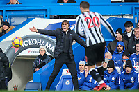 Antonio Conte (Manager) of Chelsea during the Premier League match between Chelsea and Newcastle United at Stamford Bridge, London, England on 2 December 2017. Photo by David Horn.