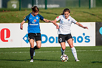 Kansas City, MO - Sunday September 3, 2017: Becca Moros, Daphne Corboz during a regular season National Women's Soccer League (NWSL) match between FC Kansas City and Sky Blue FC at Children's Mercy Victory Field.