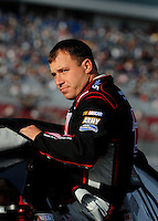 Feb. 27, 2009; Las Vegas, NV, USA; NASCAR Sprint Cup Series driver Ryan Newman during qualifying for the Shelby 427 at Las Vegas Motor Speedway. Mandatory Credit: Mark J. Rebilas-