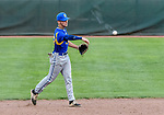 MIDDLETOWN, CT. 06 June 2018-060618BS510 - Seymour's Nick Marchetti (42) throws to first on a grounder hit to him during the CIAC Tournament Class M Semi-Final baseball game between Seymour and St Joseph at Palmer Field on Wednesday evening. Seymour beat St Joseph 8-0 and will play Wolcott for the Class M championship on Saturday. Bill Shettle Republican-American