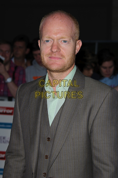 Jake Wood.'The Daily Mirror's Pride Of Britain Awards 2011' at Grosvenor House Hotel, London, England..3rd October 2011.half length brown grey gray suit jacket green shirt stubble facial hair .CAP/CJ.©Chris Joseph/Capital Pictures.