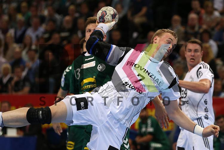 Kiel, 20.05.15, Sport, Handball, DKB Handball Bundesliga, Saison 2014/2015, THW Kiel - GWD Minden : Rene Toft Hansen (THW Kiel, #07)<br /> <br /> Foto &copy; P-I-X.org *** Foto ist honorarpflichtig! *** Auf Anfrage in hoeherer Qualitaet/Aufloesung. Belegexemplar erbeten. Veroeffentlichung ausschliesslich fuer journalistisch-publizistische Zwecke. For editorial use only.