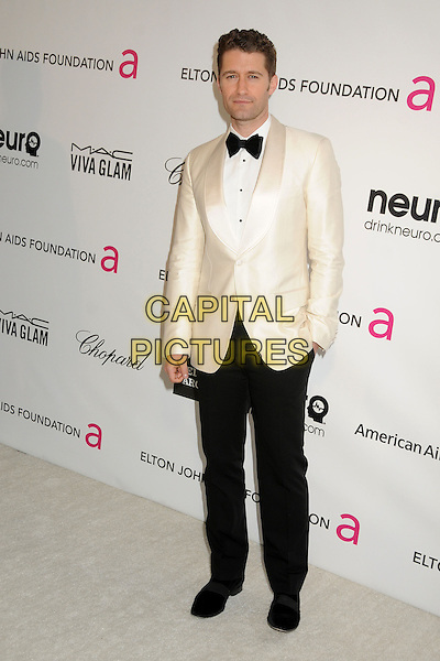Matthew Morrison.21st Annual Elton John Academy Awards Viewing Party held at West Hollywood Park, West Hollywood, California, USA..February 24th, 2013.oscars full length black white tuxedo trousers jacket bow tie .CAP/ADM/BP.©Byron Purvis/AdMedia/Capital Pictures.