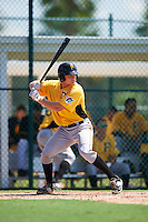 Pittsburgh Pirates catcher Arden Pabst (89) during an Instructional League Intrasquad Black & Gold game on September 21, 2016 at Pirate City in Bradenton, Florida.  (Mike Janes/Four Seam Images)