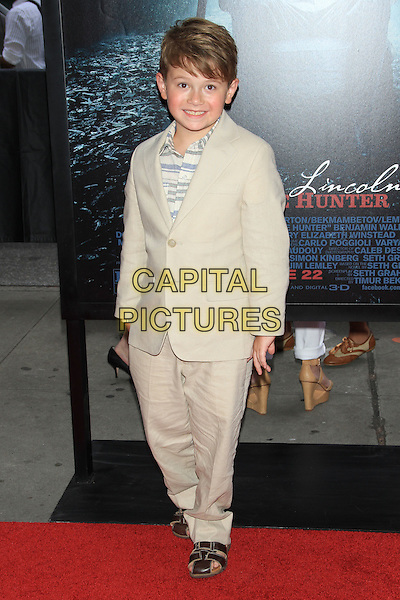 "Cameron Brown.The Premiere of ""Abraham Lincoln: Vampire Hunter"" at the AMC Loews Lincoln Square Cinemas, New York, NY., USA..June 18th, 2012.full length beige trousers jacket .CAP/LNC/TOM.©LNC/Capital Pictures."