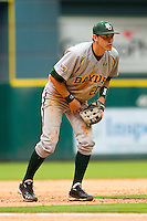 Third baseman Jake Miller #20 of the Baylor Bears on defense against the Houston Cougars at Minute Maid Park on March 4, 2011 in Houston, Texas.  Photo by Brian Westerholt / Four Seam Images