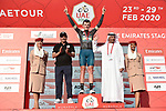 Veljko Stojnic (SER) Vini Zabù-KTM retains the Black Jersey at the end of Stage 3 The Emirates Stage of the UAE Tour 2020 running 184km from Al Qudra Cycle Track to Jebel Hafeet, Dubai. 25th February 2020.<br /> Picture: LaPresse/Fabio Ferrari   Cyclefile<br /> <br /> All photos usage must carry mandatory copyright credit (© Cyclefile   LaPresse/Fabio Ferrari)