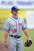 Round Rock Express pitcher Neal Cotts #56 during a game against the New Orleans Zephyrs on April 15, 2013 at Zephyr Field in New Orleans, Louisiana.  New Orleans defeated Round Rock 3-2.  (Mike Janes/Four Seam Images)